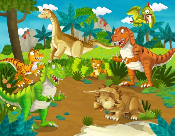 Детские фотообои динозавры (children-0000372)
