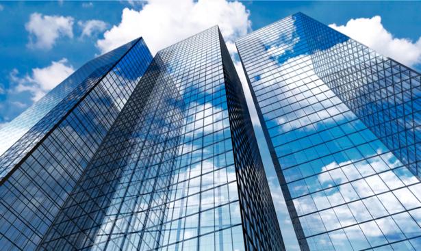 Фотообои небоскребы, архитектура, снизу, мегаполис (city-0000184)