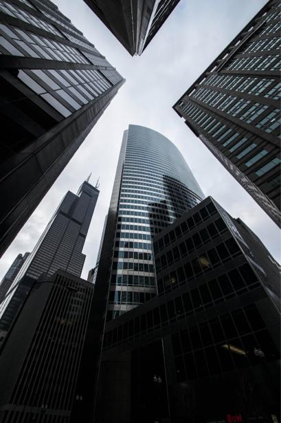 Фотообои небоскребы вид снизу (city-0000788)