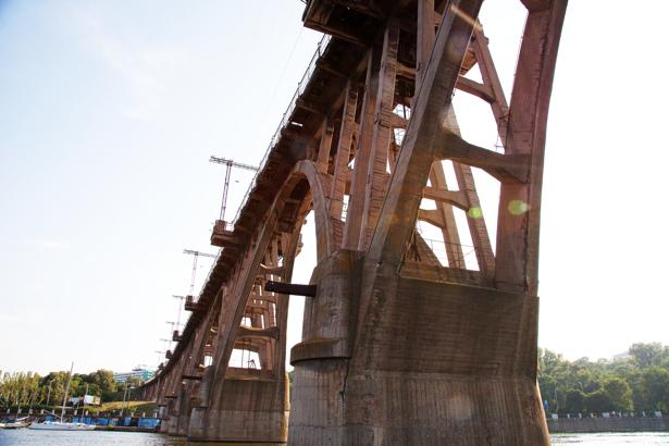 Фотообои Днепропетровск конструкция моста (city-0000873)