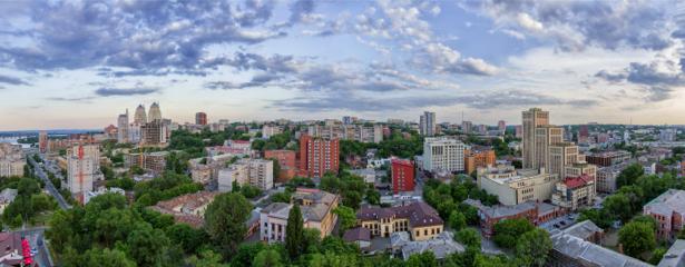 Фотообои Днепропетровск город под небом (city-0000902)