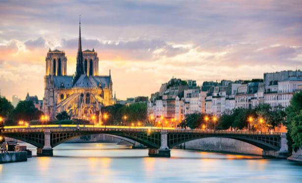 Фотообои париж река сена (city-0001046)