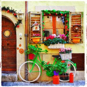 Фотообои европейский дворик бохо (city-0001230)