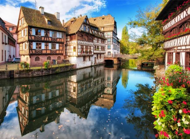 Фотообои Страсбург Франция река (city-0001357)