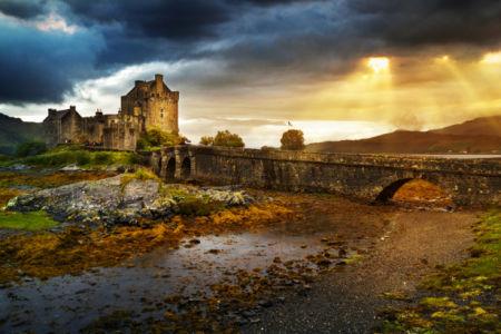 Фотообои замок развалины Eilean Donan (city-0001401)