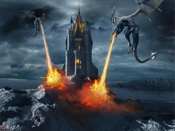 Фотообои черные драконы (fantasy-0000177)