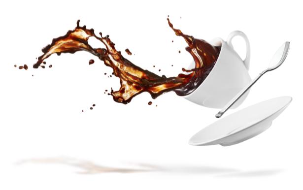 Фотообои кухня брызги кофе капли чашка (food-0000120)