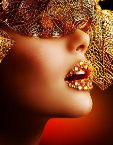 Фотообои Золотой макияж (glamour-306)