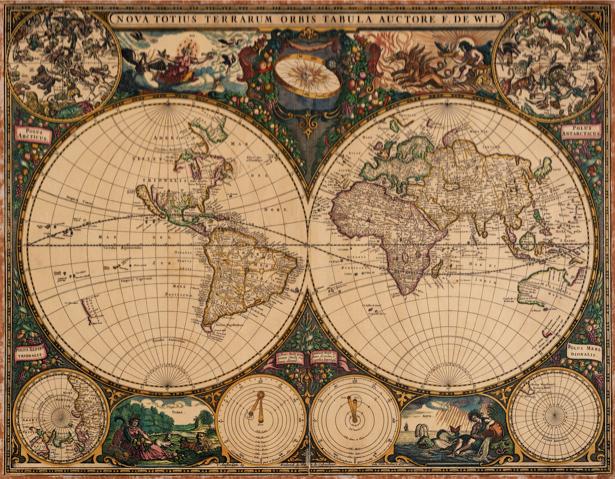 атлас, география, карты, старая карта (map-0000117)