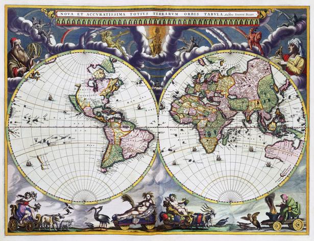 атлас, география, карты, старая карта (map-0000119)