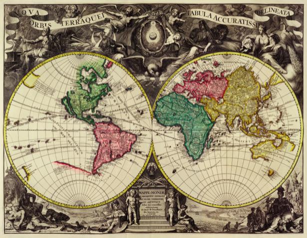атлас, география, карты, старая карта (map-0000140)