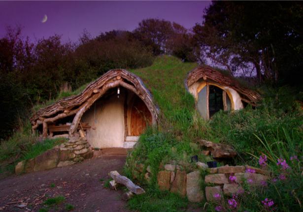 Фотообои дом в земле вечер (nature-00413)