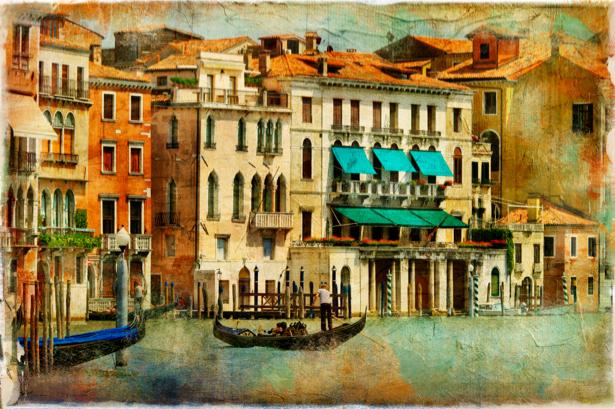 канал в Венеции Фотообои Италия (retro-vintage-0000118)