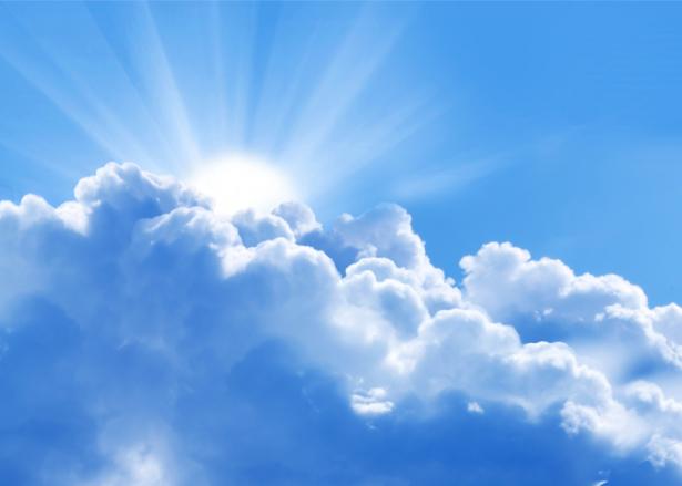 Фотообои солнце из облаков небо (sky-0000141)