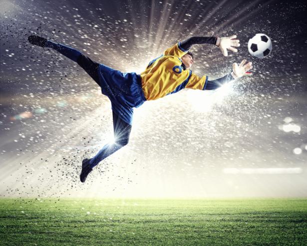 Фотообои футбол вратарь (sport-0000128)