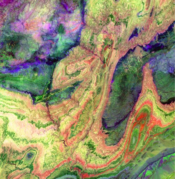 Фотообои на стену монотипия планеты (terra-00205)