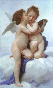 Фреска обои Первый поцелуй амуры (angel-00019)