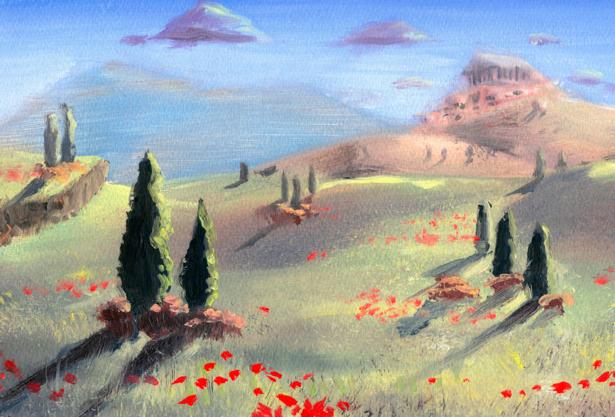 итальянский пейзаж (art-0000052)