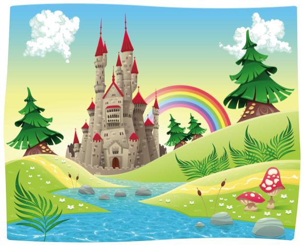 Фотообои детские Сказочный замок (children-0000270)