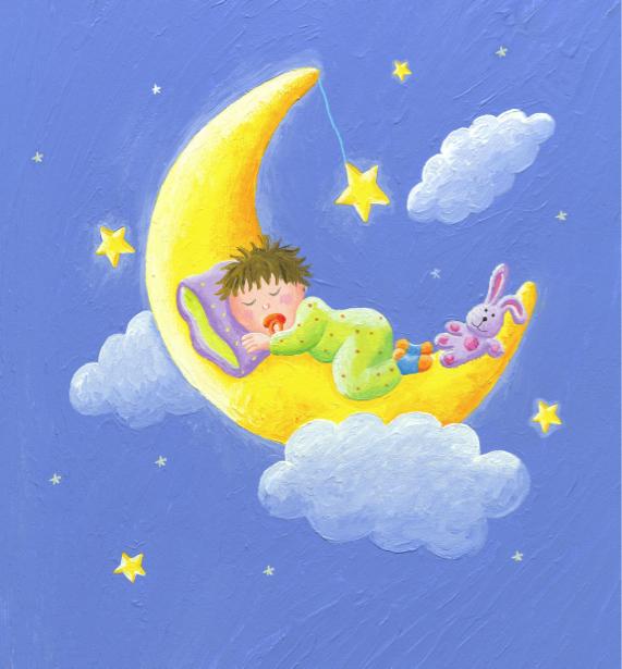 Фотообои детские ребенок спит (children-0000308)