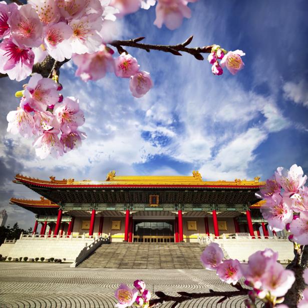 Фотообои Cакура, храм (city-0000818)