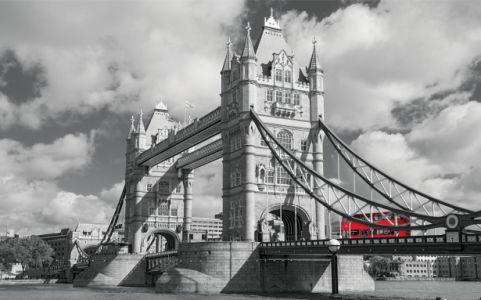 Фотообои ЧБ Лондон Тауэрский мост (city-0001236)