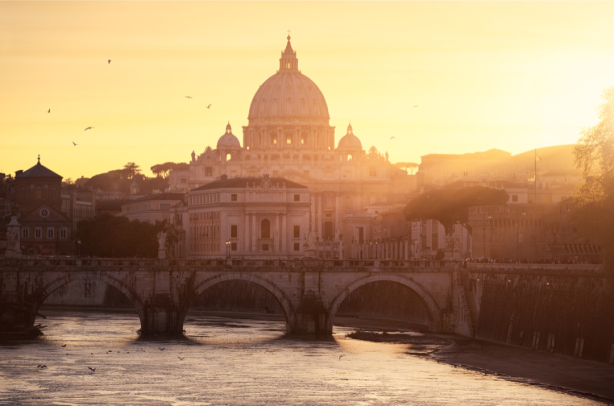 Фотообои мост Умберто Рим Италия (city-0001304)