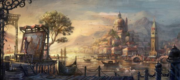 Фотообои фантазийный восточный город (fantasy-0000051)