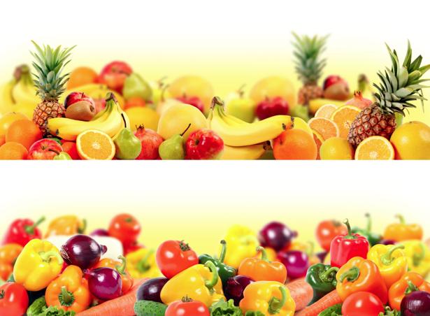 Фотообои для кухни овощи и фрукты 2 (food-0000026)