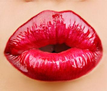 Фотообои красные губы (glamour-0000239)