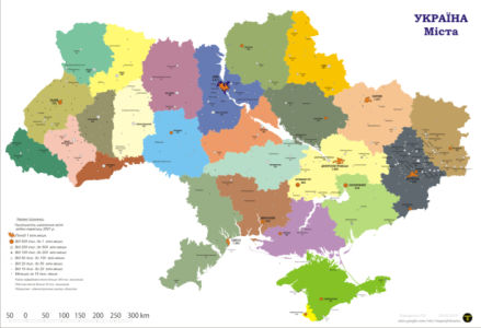 Фотообои карта Украины (map-0000223)