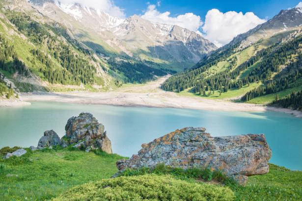 Фотообои горное озеро горы (nature-0000670)