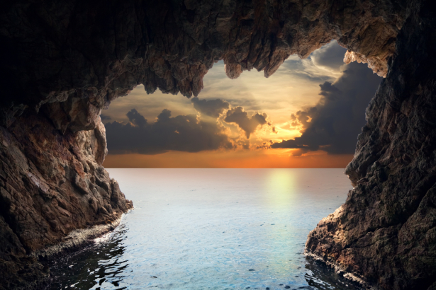 Фотообои грот в море (nature-0000771)