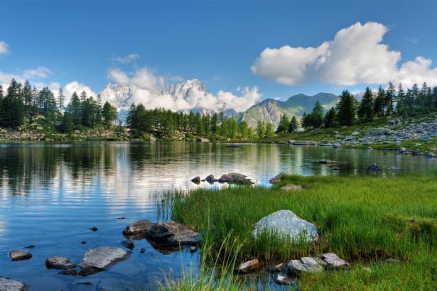 Фотообои озеро горное фото (nature-0000828)