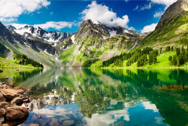 Фотообои виды природы горное озеро (nature-00071)