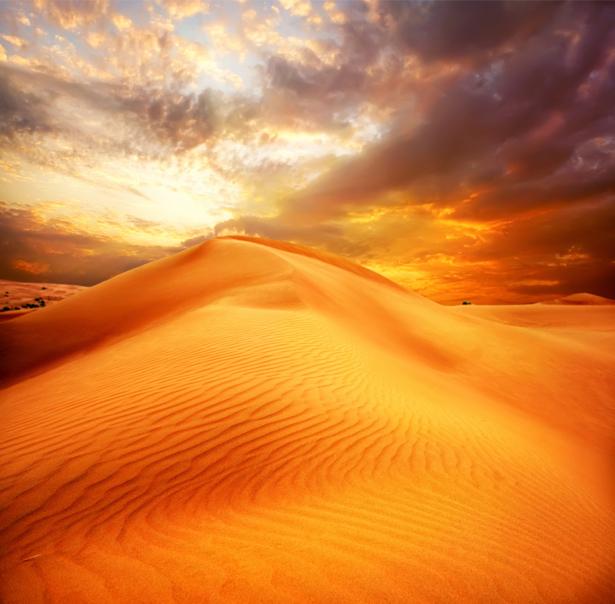 Фотообои пустыня оранж (nature-00540)