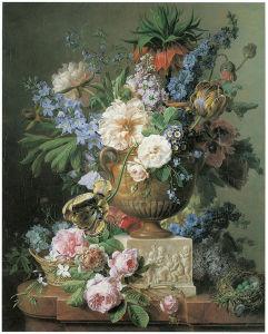 Tranh Son Dau натюрморт, ваза с цветами (pf-107)
