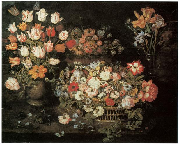 картина цветы в вазах (pf-8)