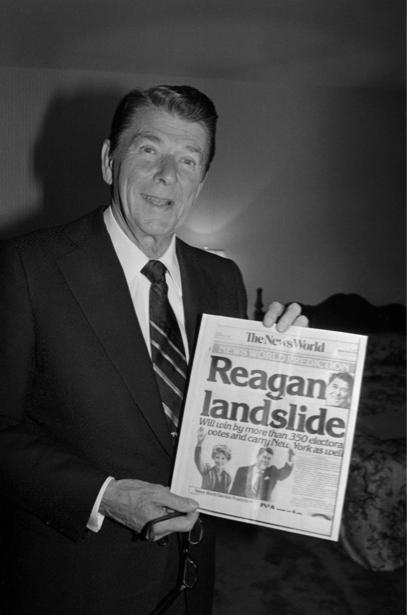 Фотообои Рейган американский президент (retro-vintage-0000352)
