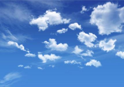 Фотообои голубое небо вид (sky-0000099)