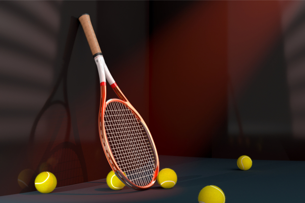Фотообои большой теннис - ракетка (sport-0000145)
