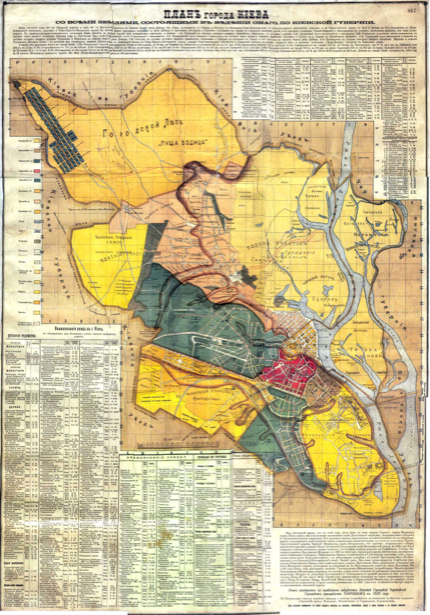 Историческая карта Киева 1902 г. (ukraine-0236)