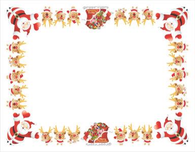 Скатерть Санта Клаус и олени (0021)