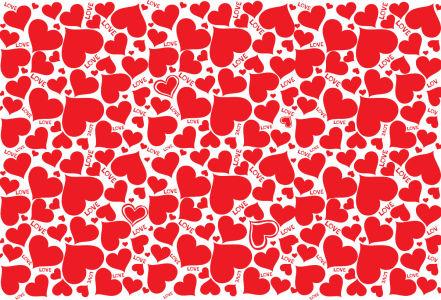 Скатерть Красные сердца (0182)