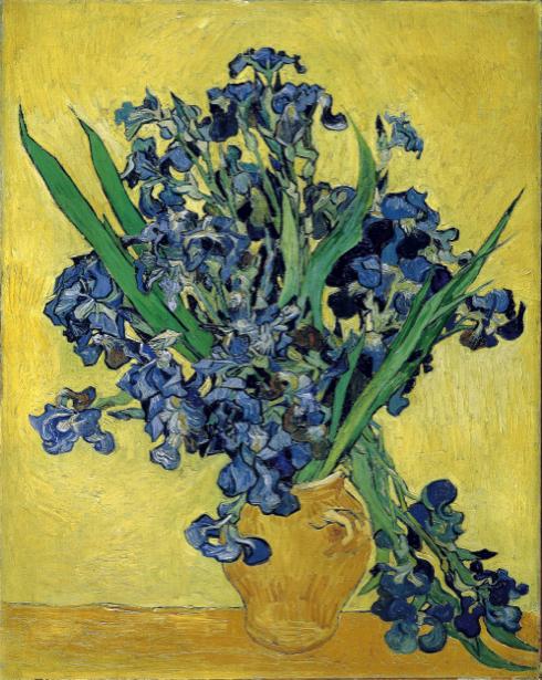 Обои Живопись цветы -  Ирисы (art-0000260)