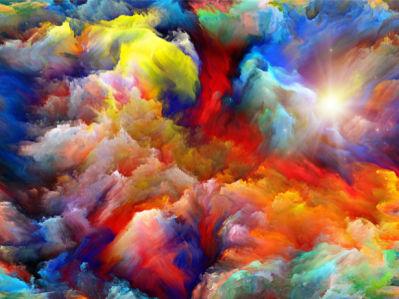 Фотообои красивые цветные облака (background-0000317)
