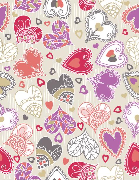 Фотообои фон из сердец декор (background-0000365)