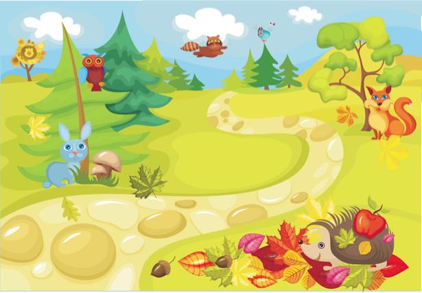 Фотообои детские Сказочные животные (children-0000257)