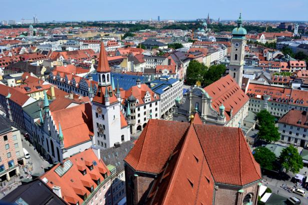Фотообои черепичные крыши (city-0001081)