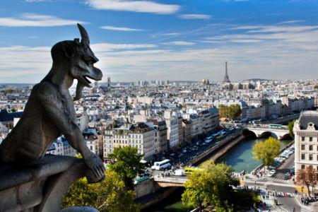 Фотообои Париж вид на город панорама (city-0001281)